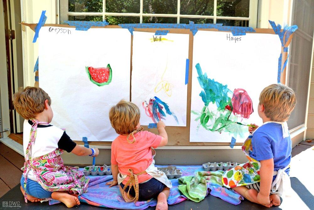 نقاشی گروهی کودکان